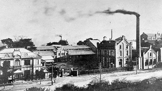 The Dainippon Beer Sapporo Brewery around 1909 (today the Sapporo Factory)