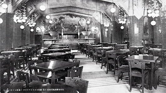 The Ginza Beer Hall interior soon after opening